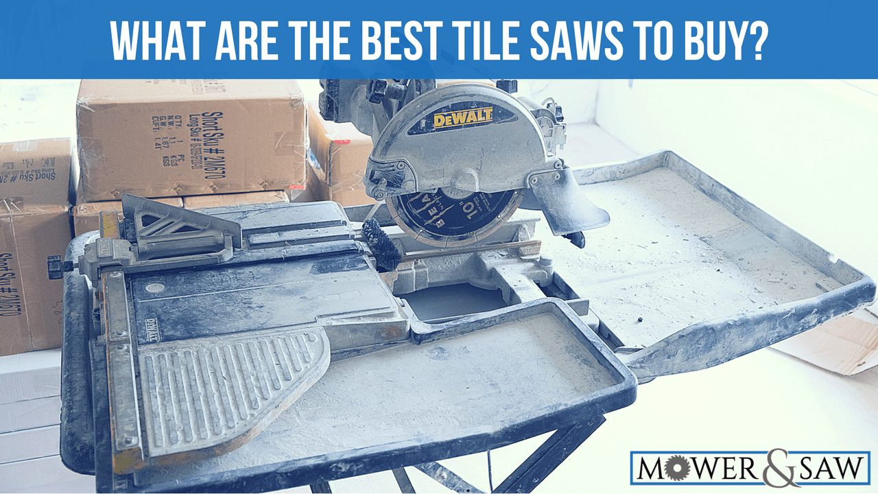 What Is The Best Tile Saw To Buy Product Reviews MowerAndSawcom - Dewalt wet saw pump